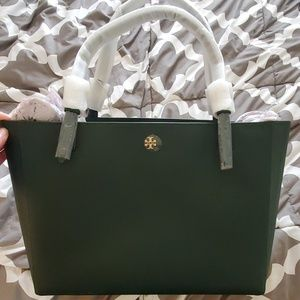 Green Tory Burch Emerson Buckle Tote